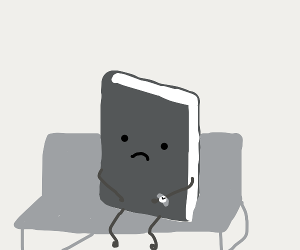 Sad book sits alone during alotted hour
