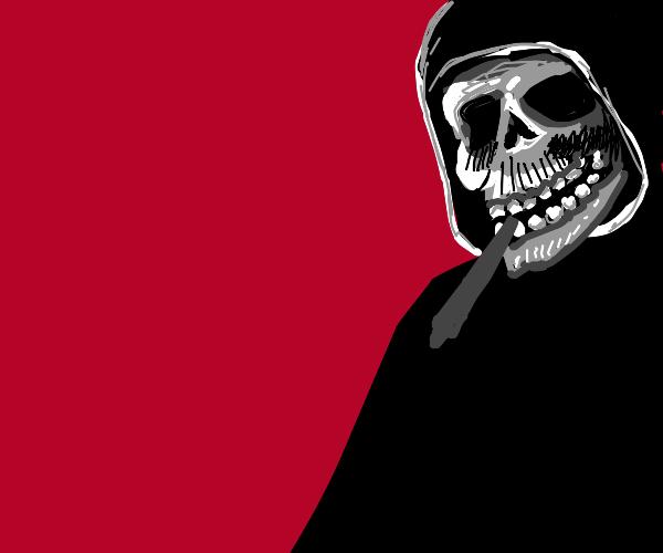 grim reaper smoking a blunt