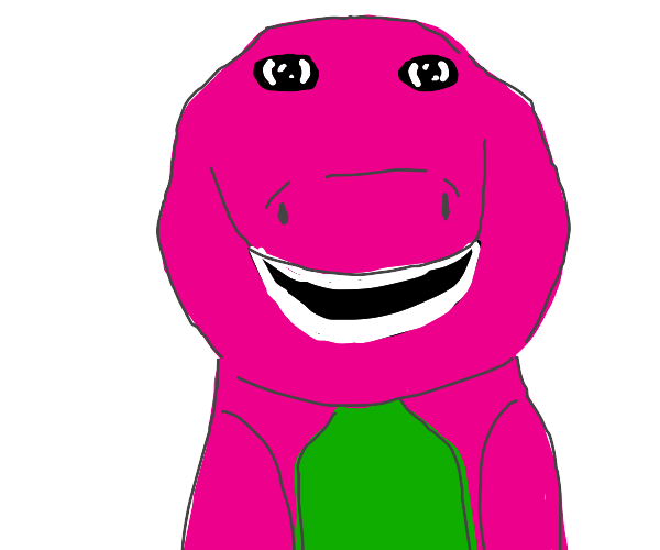 barney stares into your soul