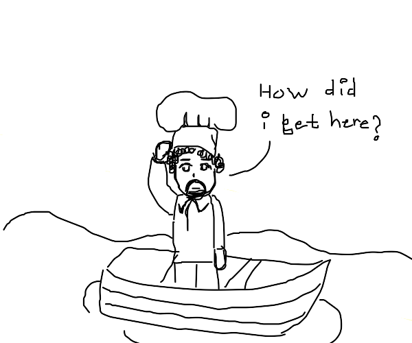 Chef stranded on a boat