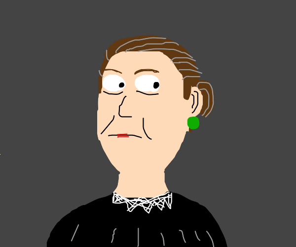Ruth Bader Ginsburg without glasses