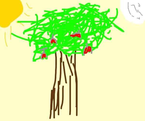 wine glasses grow on trees w sun/moon balls