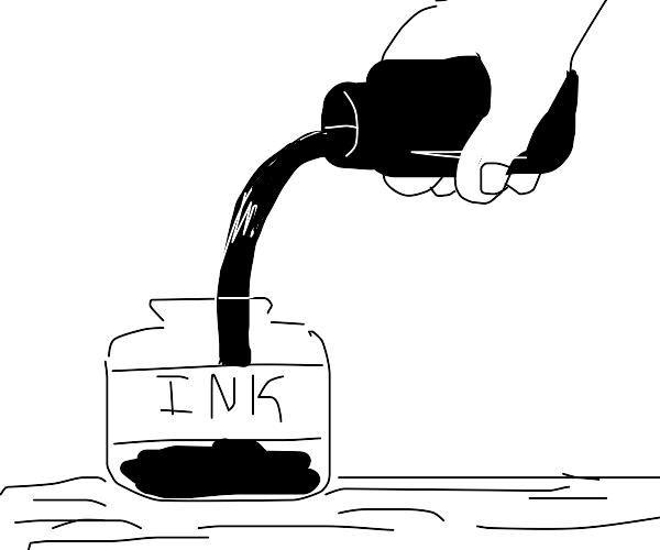 filling an ink jar