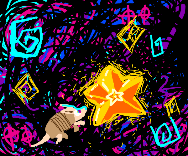 Armadillo discovering a Star
