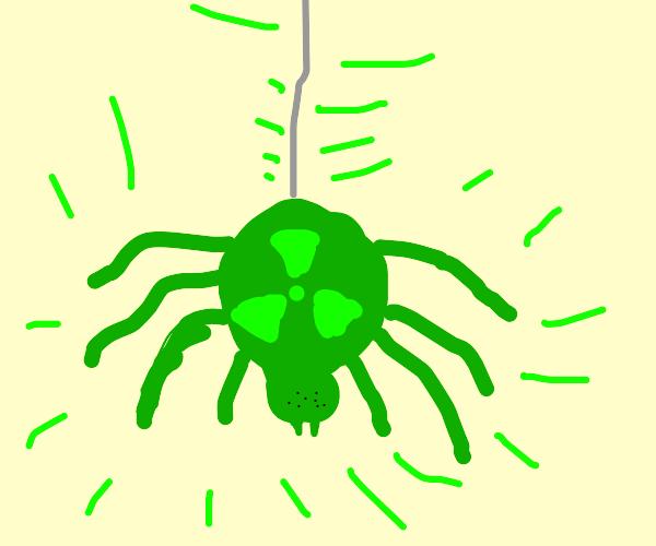 Radioactive green spider