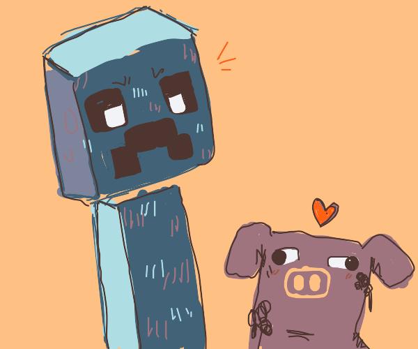 Cringing creeper (Minecraft)