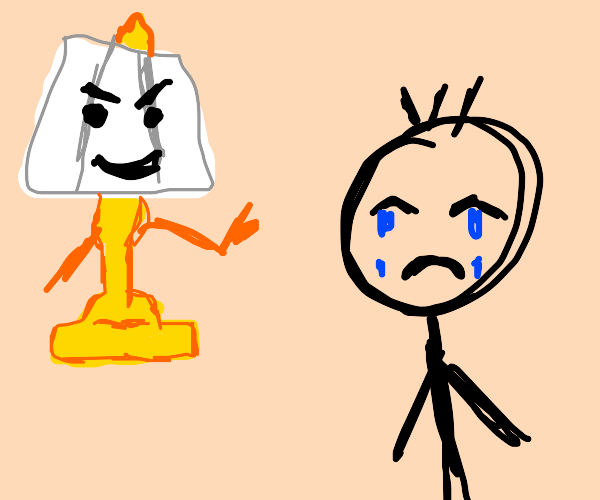 Lamp makes man sad