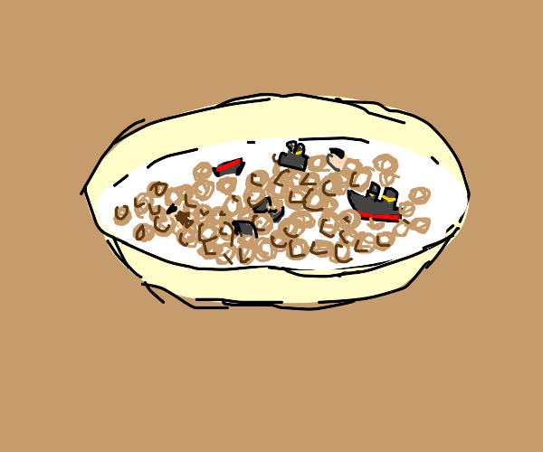 A hearty bowl of titanic lucky charms