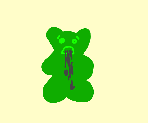 Sick gummy bear