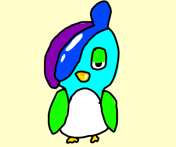 Drizzle from Pokemon, But a Birb