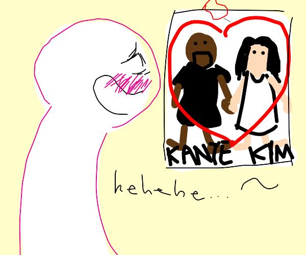 Man shipping Kanye and Kim