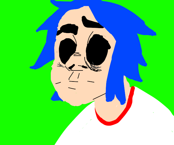 Blue haired guy from the Gorillaz band