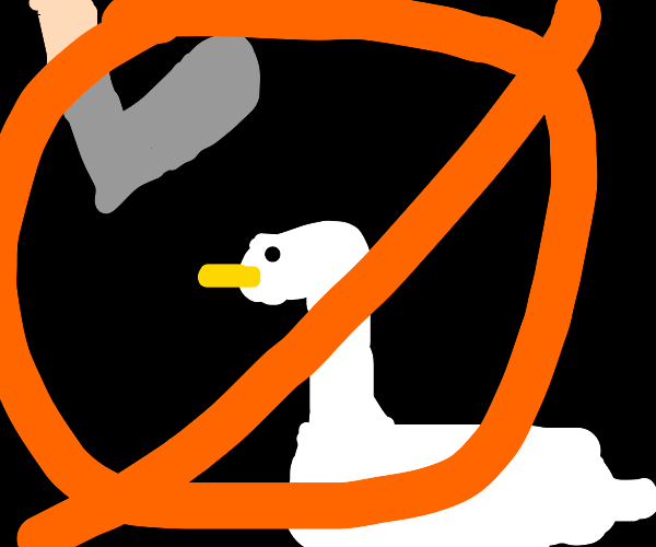 Stepping on ducks is not allowed