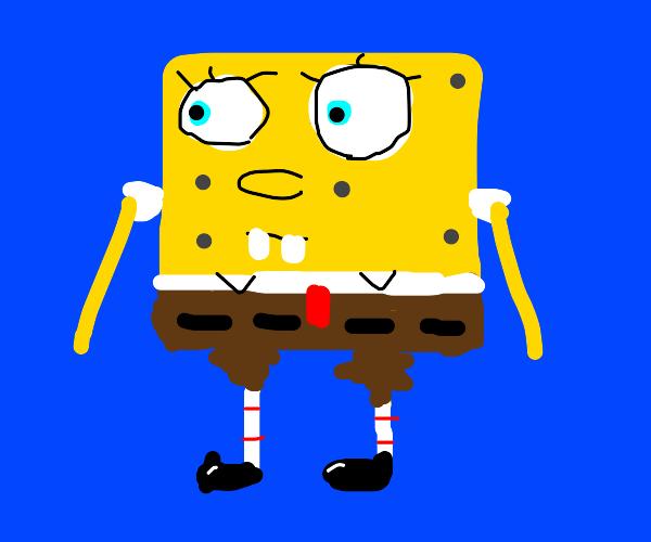 Sponge Bob wants to scream