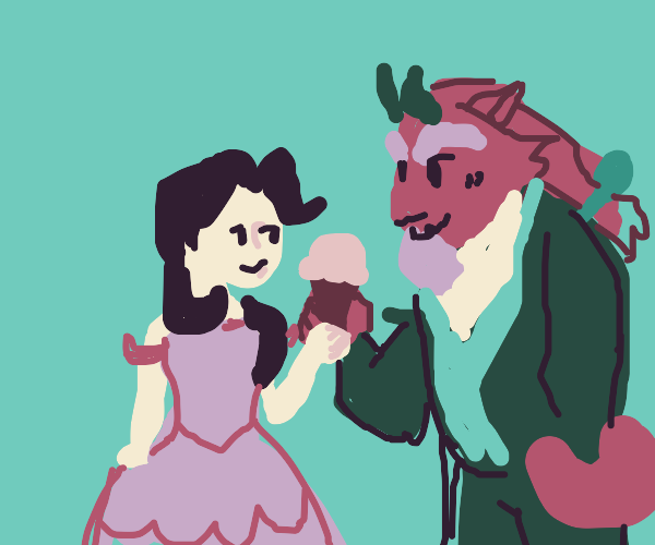 beauty and the beast sharing ice cream