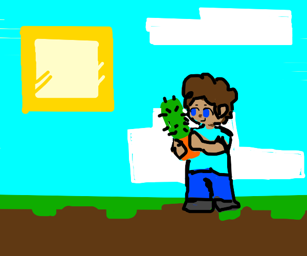 Smelly minecraft cactus-person