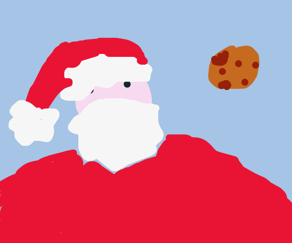 Santa needs to cut down on the cookies
