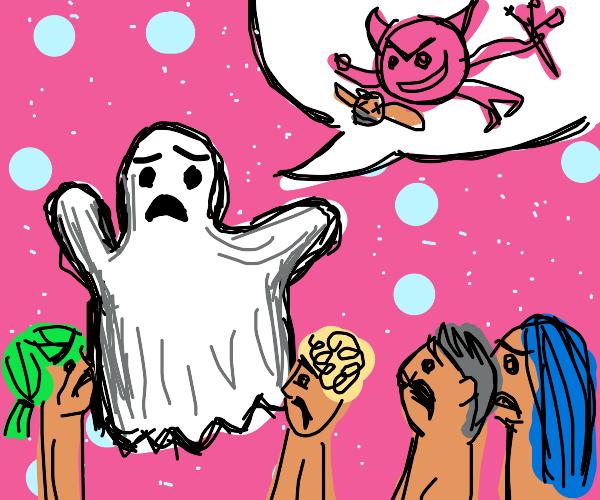 Ghost warns people