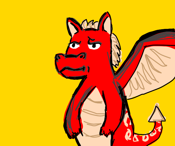 Unimpressed dragon