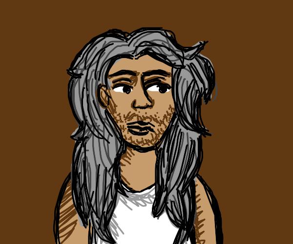 man with big hair