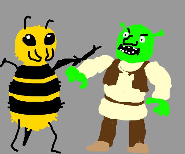 giant bee man vs shrek