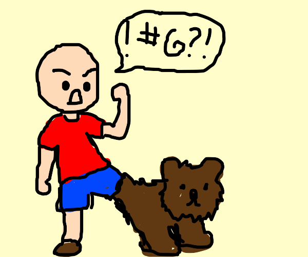 Man Curses Leg Bear