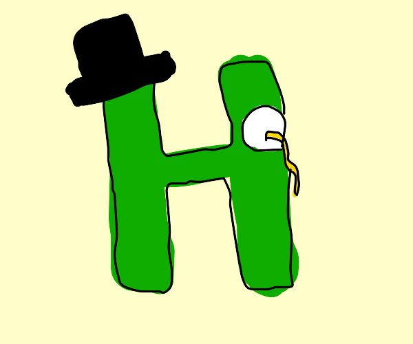 The fanciest H you've ever seen