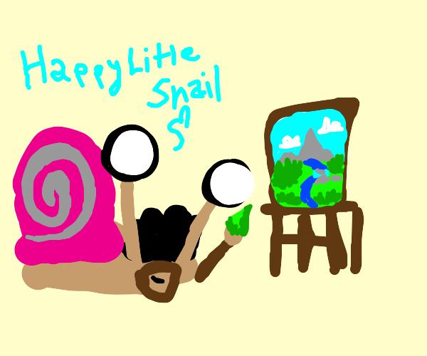This snail is an artisté