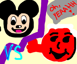 mickey mouse VS kool aid man