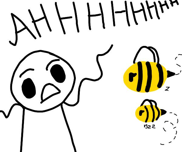 afraid of bees
