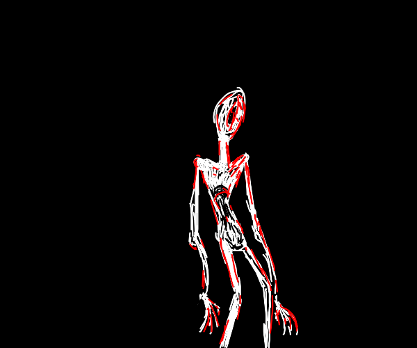 really skinny and  scary dude