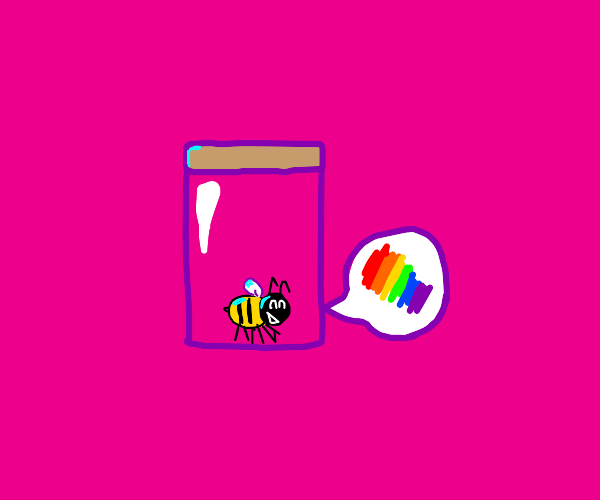 bee in a jar talking about colour