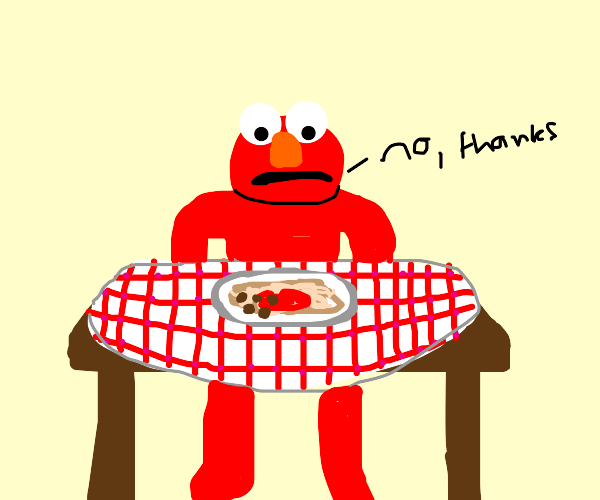 Elmo doesn't want spaghetti