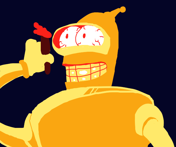 Robot on weed