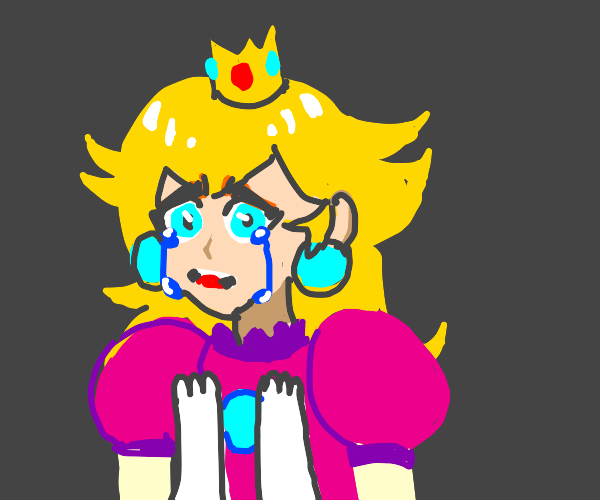 princess peach crying