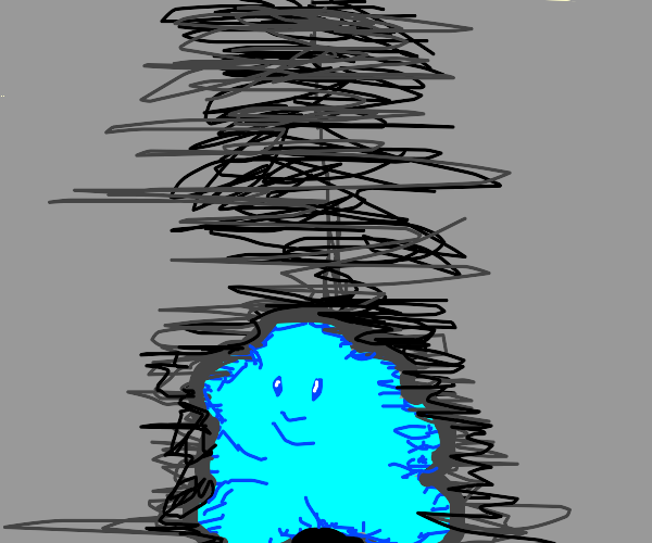 Blue ditto with small stubby legs and arms?