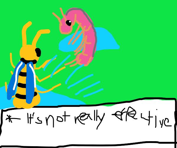 Pokemon battle but it's wurmple vs a shrimp