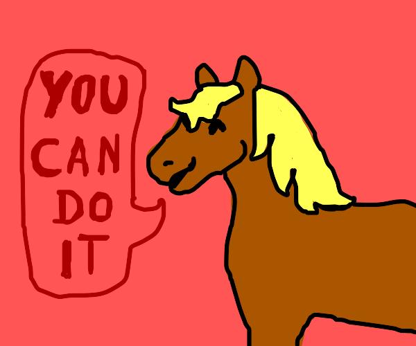Motivational horse
