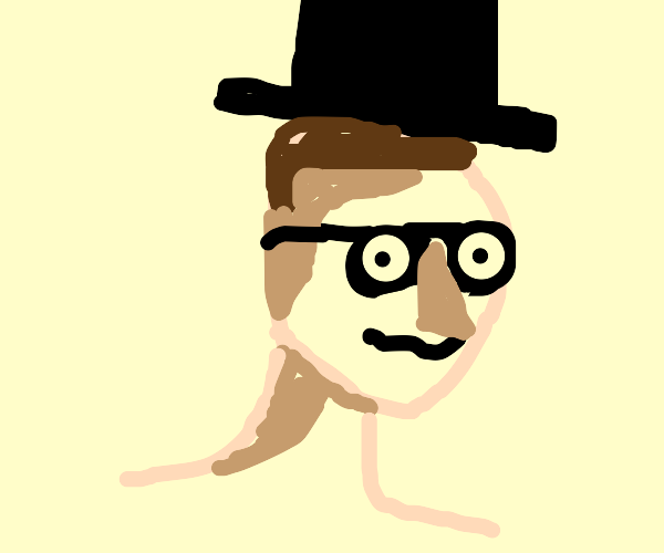 Influencer wearing a Top Hat