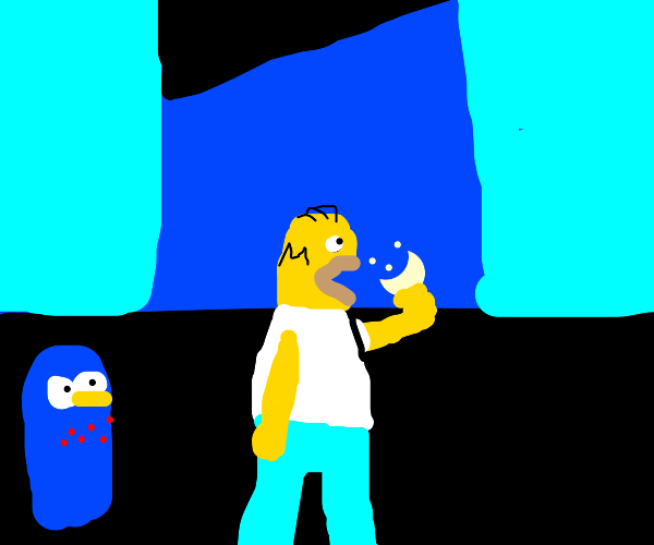 The Simpsons as Pac-mans