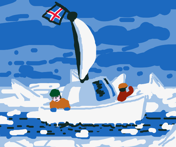 Icelandic dudes on a boat