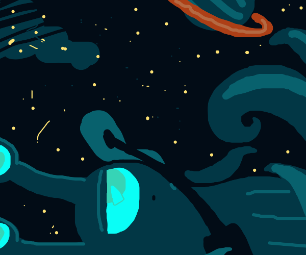 major tom is in space and he is an octopus