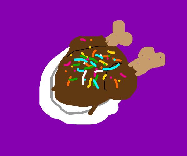 roast turkey covered in sprinkles