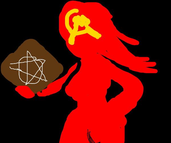 communist girl who is also a satanist