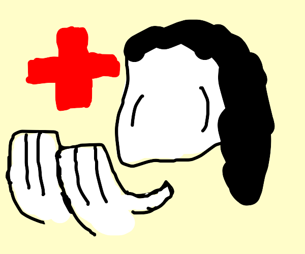 faceless jeff the killer with a red cross