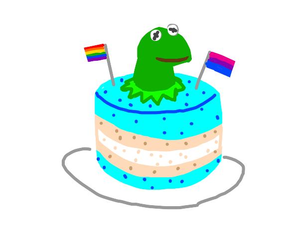 pride kermit cake