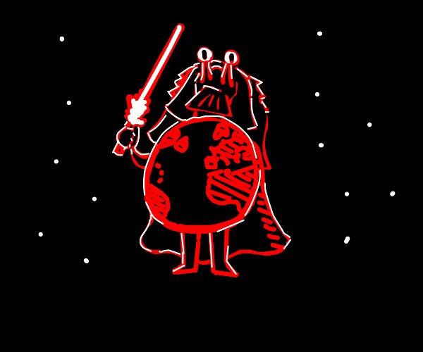 Jar jar binks as earth Vader