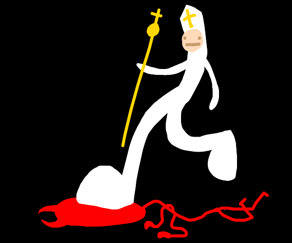 Pope stomps on your sins