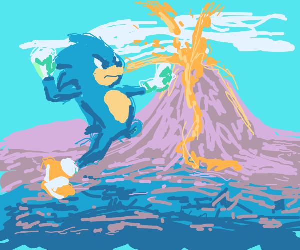 sonic vs volcano