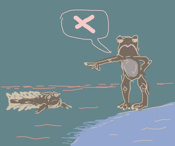 no tadpoles allowed.
